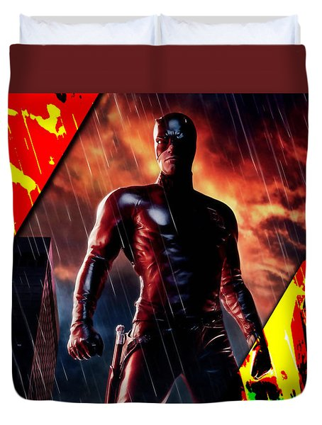 Daredevil Collection Duvet Cover by Marvin Blaine