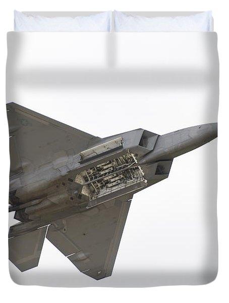 F-22 Raptor Duvet Cover by Sebastian Musial