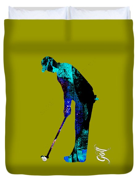 Golf Collection Duvet Cover by Marvin Blaine