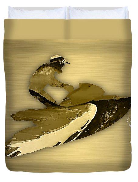 Jet Ski Collection Duvet Cover by Marvin Blaine