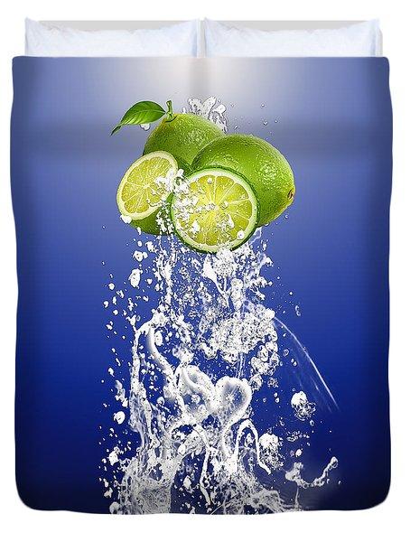 Lime Splash Duvet Cover by Marvin Blaine