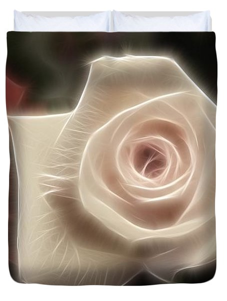 3 Little Roses For Patrice Duvet Cover by Kevin  Sherf