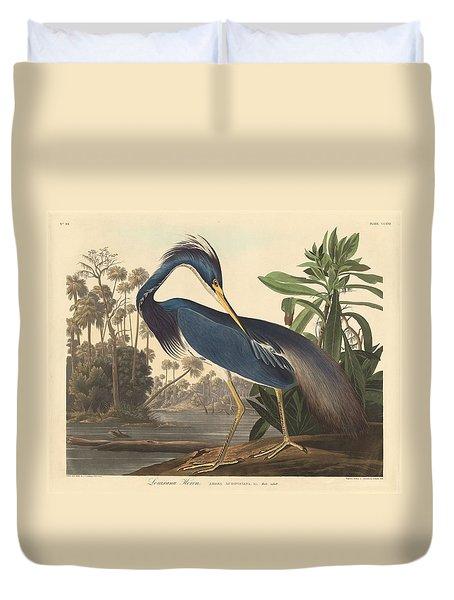 Louisiana Heron Duvet Cover by John James Audubon