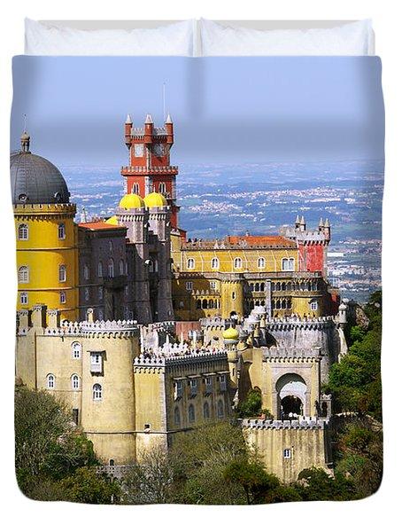 Pena Palace Duvet Cover by Carlos Caetano