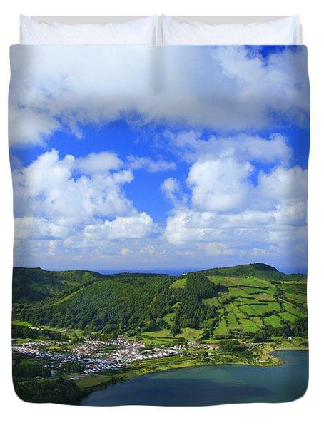 Sete Cidades - Azores Duvet Cover by Gaspar Avila