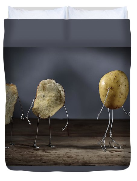 Simple Things - Potatoes Duvet Cover by Nailia Schwarz