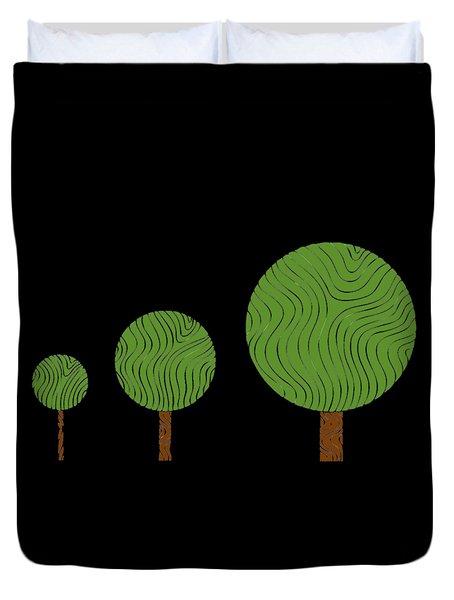 3 Trees Duvet Cover by Frank Tschakert