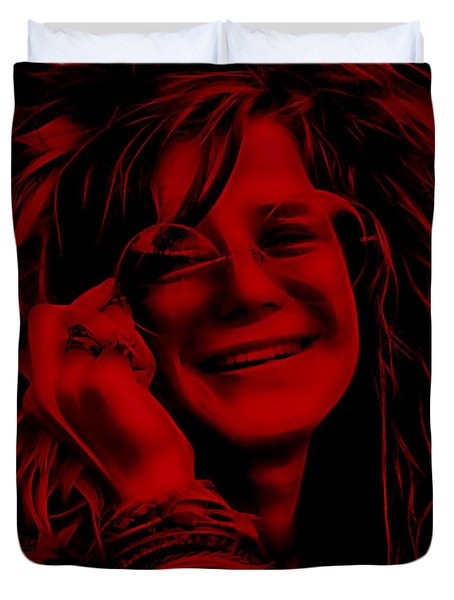 Janis Joplin Collection Duvet Cover by Marvin Blaine