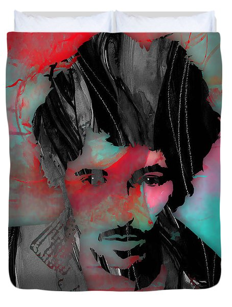 Bruce Springsteen Collection Duvet Cover by Marvin Blaine