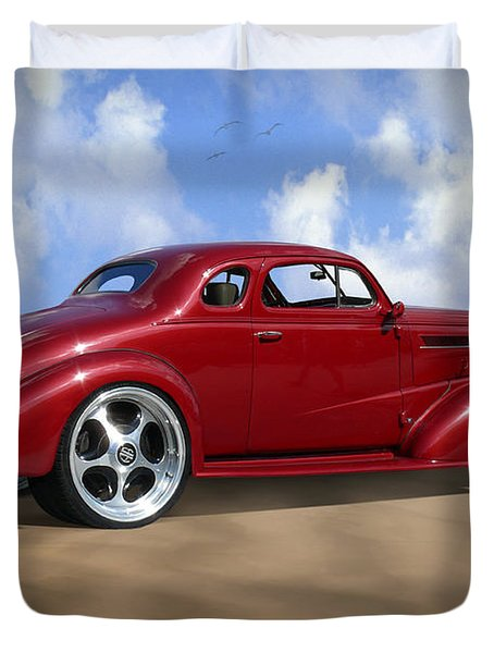 37 Chevy Coupe Duvet Cover by Mike McGlothlen