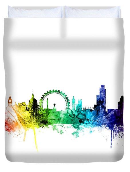 London England Skyline Duvet Cover by Michael Tompsett
