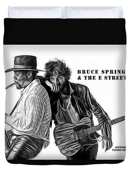 Bruce Springsteen Clarence Clemons Collection  Duvet Cover by Marvin Blaine