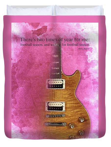 Darius Rucker Inspirational Quote, Electric Guitar Poster For Music Lovers And Musicians Duvet Cover by Pablo Franchi
