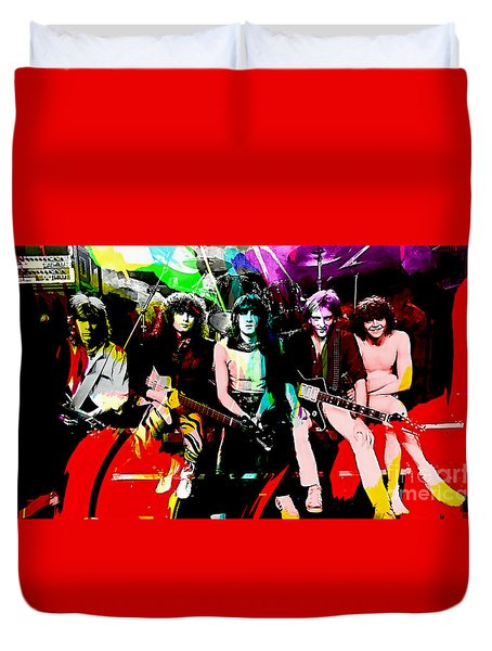 Def Leppard Duvet Cover by Marvin Blaine