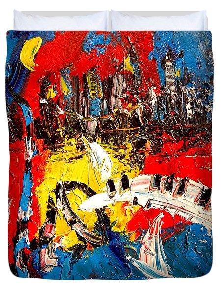 Jazz Duvet Cover by Mark Kazav