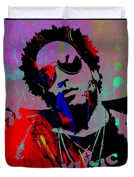 Lenny Kravitz Collection Duvet Cover by Marvin Blaine