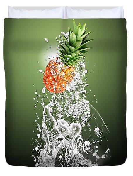 Pineapple Splash Duvet Cover by Marvin Blaine