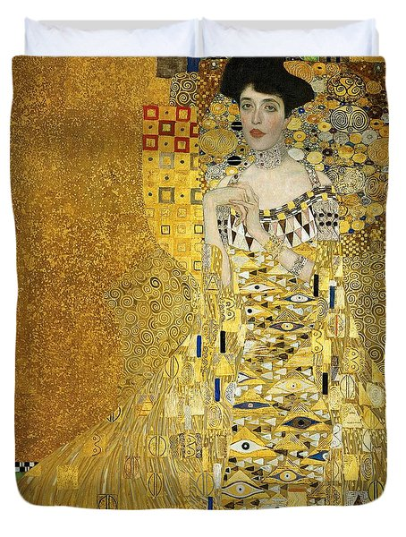 Portrait Of Adele Bloch-bauer I Duvet Cover by Gustav Klimt