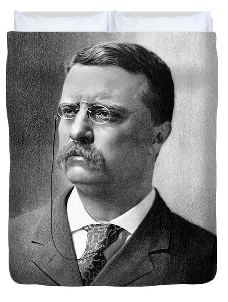 President Theodore Roosevelt Duvet Cover by War Is Hell Store