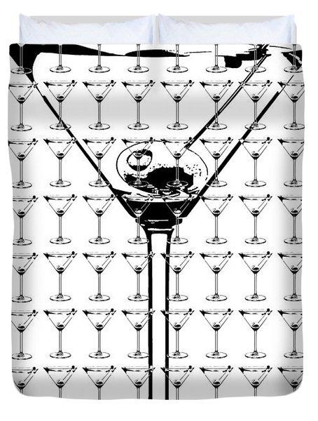 So Many Martinis So Little Time Duvet Cover by Jon Neidert