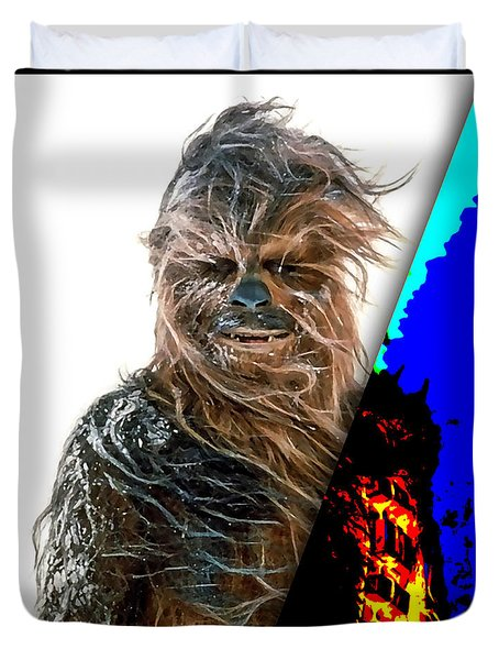 Star Wars Chewbacca Collection Duvet Cover by Marvin Blaine