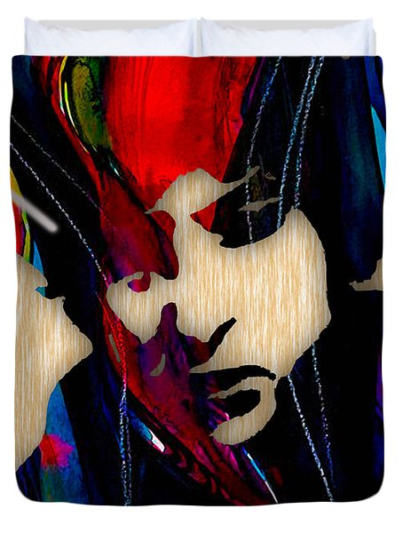 Bob Dylan Collection Duvet Cover by Marvin Blaine