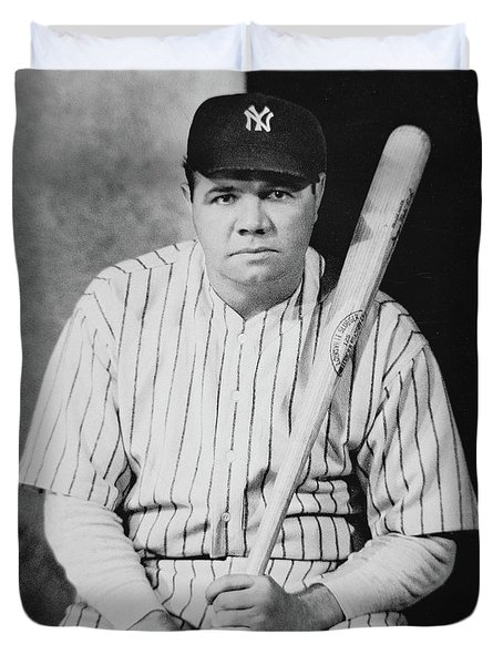 Babe Ruth Duvet Cover by American School