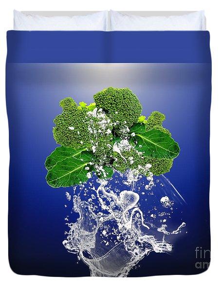 Broccoli Splash Duvet Cover by Marvin Blaine