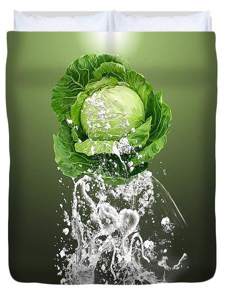 Cabbage Splash Duvet Cover by Marvin Blaine