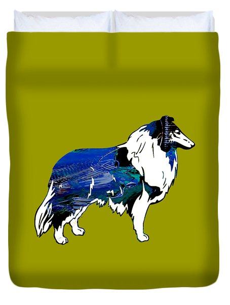Collie Collection Duvet Cover by Marvin Blaine