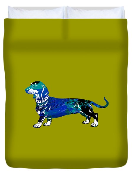 Dachshund Collection Duvet Cover by Marvin Blaine