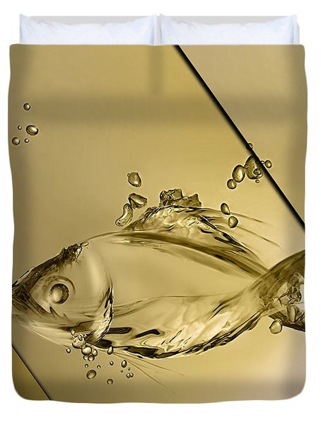 Fish Collection Duvet Cover by Marvin Blaine
