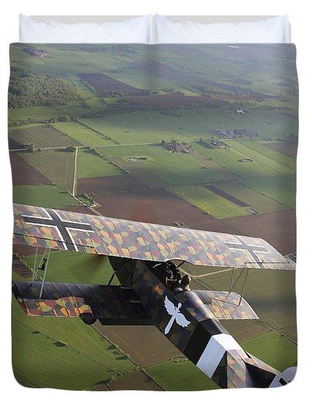 Fokker D.vii World War I Replica Duvet Cover by Daniel Karlsson