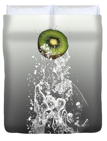 Kiwi Splash Duvet Cover by Marvin Blaine