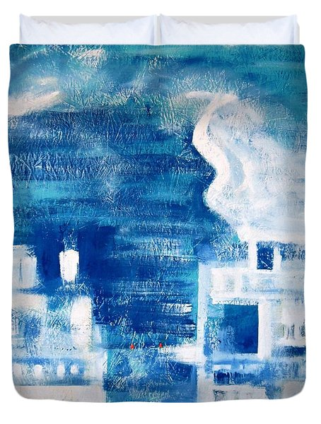 Les Deux Balcons Duvet Cover by Contemporary Luxury Fine Art