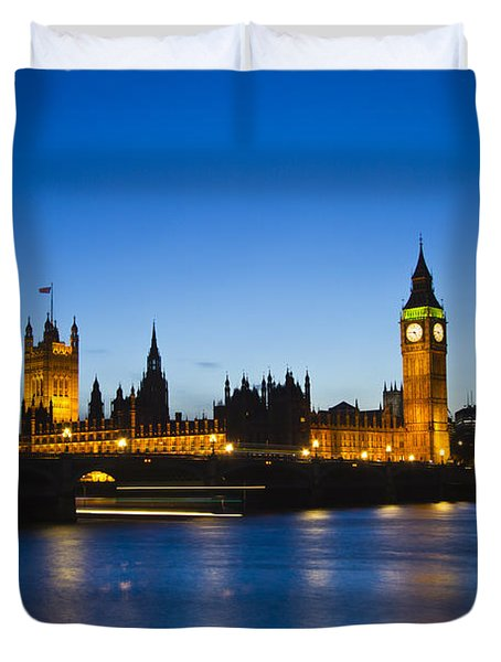 London  Skyline Big Ben Duvet Cover by David French
