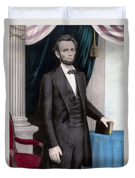 President Abraham Lincoln Duvet Cover by War Is Hell Store