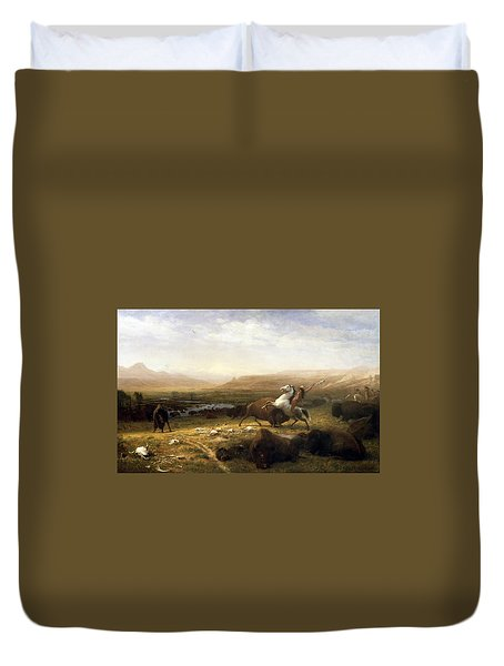 The Last Of The Buffalo  Duvet Cover by Albert Bierstadt