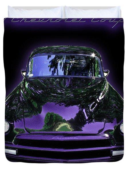 51chevrolet Coupe Duvet Cover by Peter Piatt