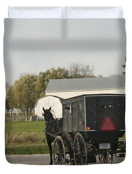 Amish Buggy Duvet Cover by David Arment