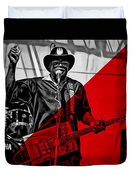 Bo Diddley Collection Duvet Cover by Marvin Blaine