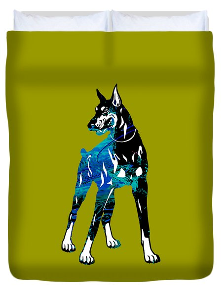 Doberman Pinscher Collection Duvet Cover by Marvin Blaine