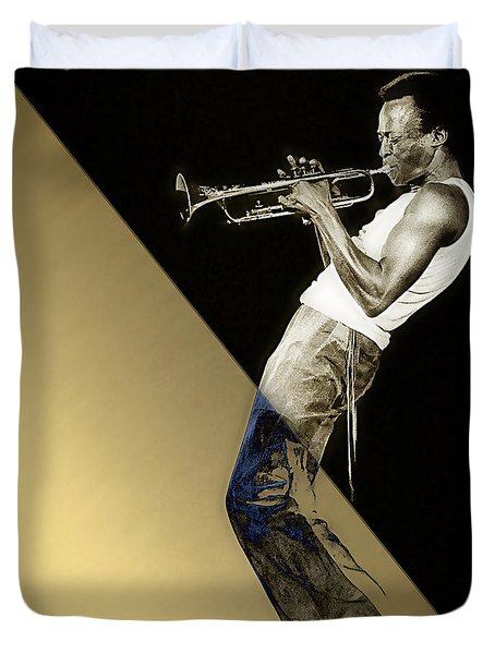 Miles Davis Collection Duvet Cover by Marvin Blaine