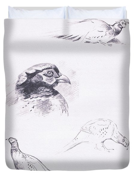 Pheasants Duvet Cover by Archibald Thorburn