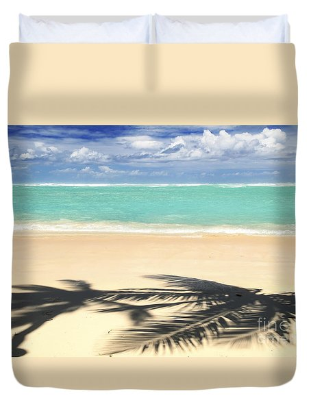 Tropical beach Duvet Cover by Elena Elisseeva