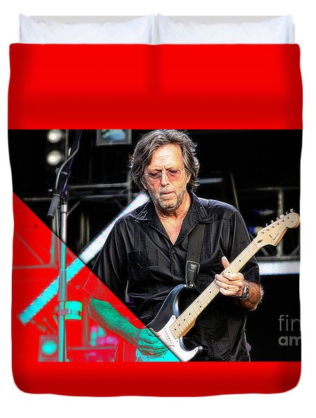 Eric Clapton Collection Duvet Cover by Marvin Blaine