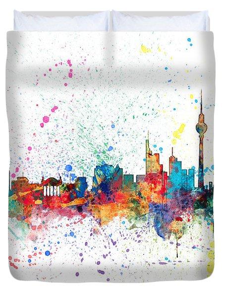 Berlin Germany Skyline Duvet Cover by Michael Tompsett