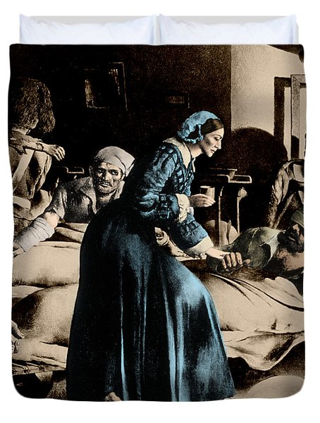Florence Nightingale, English Nurse Duvet Cover by Science Source