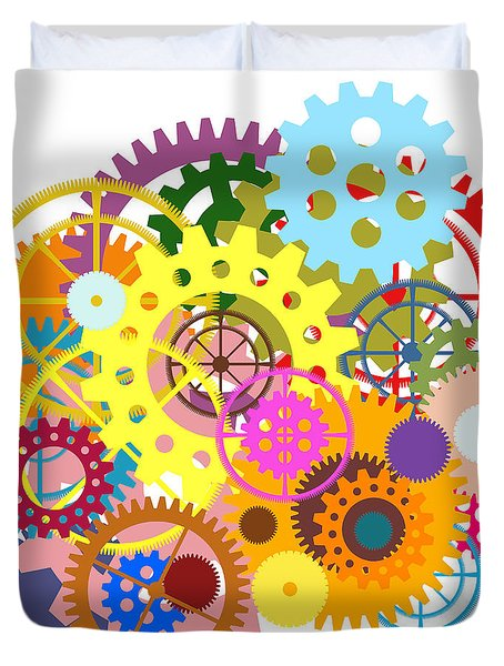 gears wheels design  Duvet Cover by Setsiri Silapasuwanchai