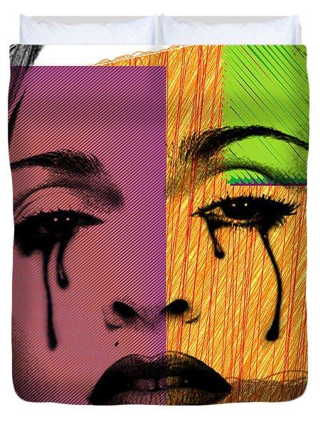 Madonna  Duvet Cover by Mark Ashkenazi